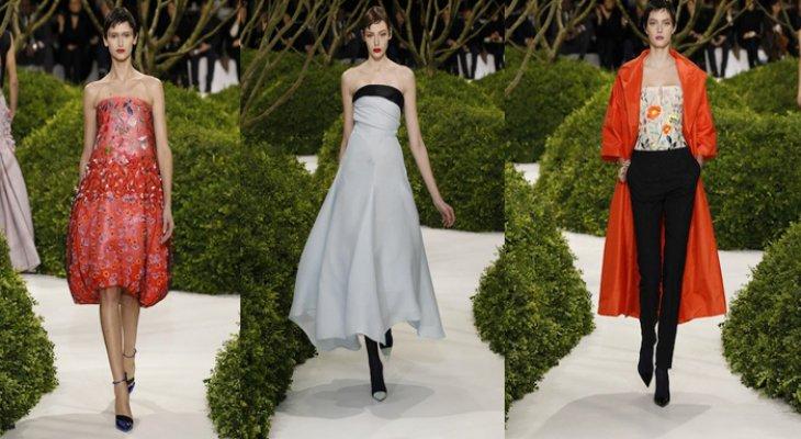 «Волшебный сад Dior » в заснеженном парке Тюильри