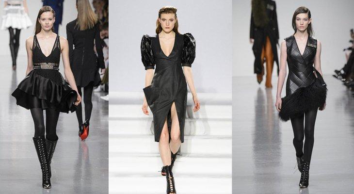 Черное платье – классика подиума
